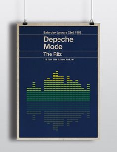 Depeche Mode miniposter  mid century / by TheStereoTypist on Etsy, £10.00