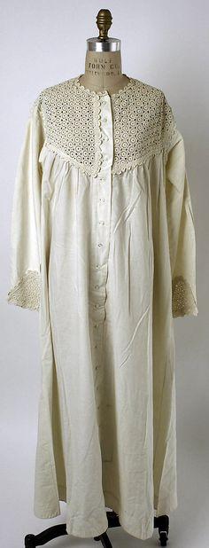 Nightgown    Date:      ca. 1850  Culture:      American or European