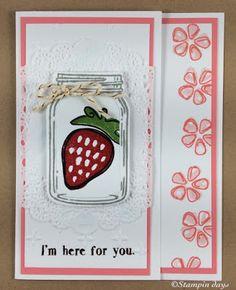 Stampin days; jar of love, fresh fruit, Stampin UP!