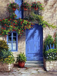 Barbara Felisky Solid-Faced Canvas Print Wall Art Print entitled Provence Blue Door - Barbara Felisky Premium Thick-Wrap Canvas Wall Art Print entitled Provence Blue Door, None Abstract Canvas, Canvas Wall Art, Wall Art Prints, Blue Canvas, Old Doors, Windows And Doors, Front Door Colors, Painted Doors, Modern