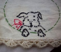 Vintage Circa 1916 Hand Embroidered with Crochet by nenafayesattic
