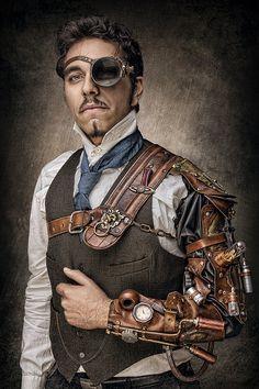 Steampunk on Behance / men's fashion / cosplay / LARP / dieselpunk / wasteland inspiration Steampunk Cosplay, Steampunk Mode, Viktorianischer Steampunk, Design Steampunk, Steampunk Accessoires, Steampunk Gadgets, Steampunk Wedding, Steampunk Clothing, Steampunk Outfits