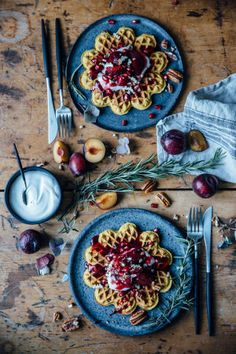 11 best food blogger fall dishes: Gluten-Free Pumpkin Waffles; from Nora Eisermann and Laura Muthesius.