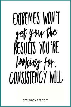 Exercise consistency gets results. Don't focus on extreme diets or trends like K… Exercise consistency gets results. Don't focus on extreme diets or trends like Keto, Atkins, or Paleo. Focus on sticking to a workout routine. Fitness Inspiration Quotes, Fitness Motivation Quotes, Weight Loss Motivation, Funny Fitness Quotes, Health Fitness Quotes, Fitness Quotes Women, Workout Motivation, Motivation Inspiration, Online Fitness