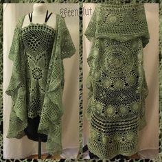 Crochet mandala vest crochet Cardigan hippie Cape coat by Feenglut