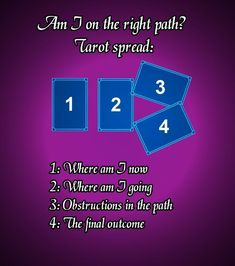 Career or life path simple tarot spread. Tarot spreads #tarot #tarotspread #easytarot #tarotcardsmeaning
