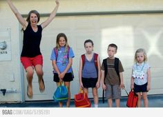 Haha! Funniest back to school photo.