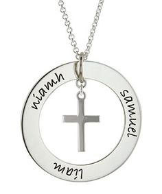 Posh Mommy Posh Cross Necklace - modern and stylish...sure to become her favorite!