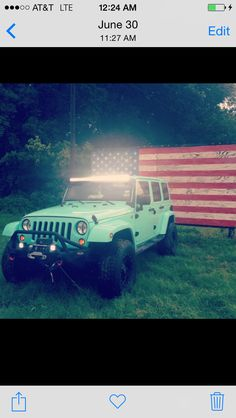 Because I'm obsessed with my jeep! #jeep wrangler #teal #america #merica' #jeepgirl