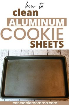 Learn how to clean and restore your aluminum cookie sheets or baking pans with baked on grease to looking almost like new with these pan cleaning hacks using a few natural ingredients like hydrogen peroxide that you probably already have! Cleaning Aluminum Pans, Cleaning Pans, How To Clean Aluminum, Cookie Sheets, Little Kitchen, Hydrogen Peroxide, Baking Pans, Kitchen Hacks, Spring Cleaning