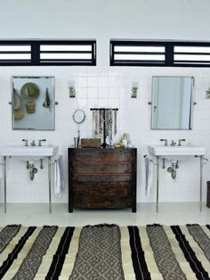 bathroom, freestanding fixtures - via emmas designblogg