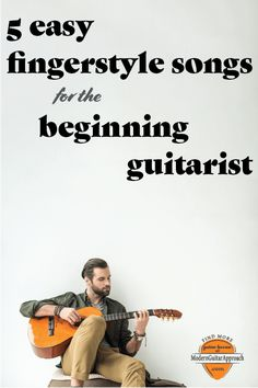 These 5 easy guitar fingerstyle songs are fun to play and perfect to perform for others. In this lesson, you will learn some great guitar arrangements of classic songs. Songs like Blackbird & Here Comes The Sun from the Beatles, Happy Birthday, Bookends a Learn Acoustic Guitar, Acoustic Guitar Strap, Learn To Play Guitar, Acoustic Guitars, Learn Guitar Beginner, Bass Guitars, Easy Guitar Songs, Guitar Chords For Songs, Guitar Sheet Music