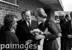 22 September 1988 Princess Diana arriving at Gatwick airport for a visit to the Gatwick Control Tower
