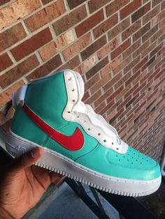352129a5b Used Pair of tiffany blue-and-white air force 1 for sale - letgo