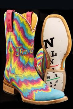 Tin Haul Boots Women's Neon Melt Cowgirl Boots
