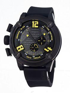 Welder Men's 7104 K28 Chronograph Black Ion-Plated Stainless Steel Round Watch