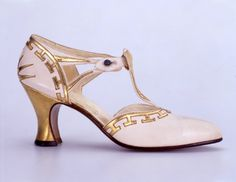 Pair of evening shoes Salome, in its original box (4 pieces), 1923, Hellstern & Sons - lovely!