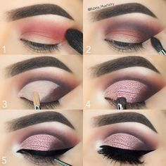 """#stepbystep @motivescosmetics Eyeshadows in Winter Nights on the crease, Vino on the outer V,…"""