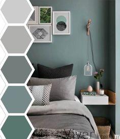Living Room Green, Bedroom Green, Living Room Colors, Trendy Bedroom, Modern Bedroom, Bedroom Vintage, Bedroom Neutral, Bedroom Rustic, Wood Bedroom