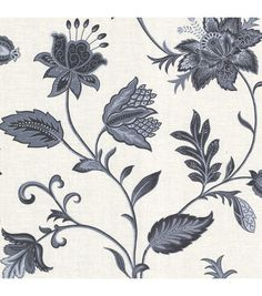I think I may have a little of this one and need more. Heritage Blue Jacobean Flower Wallpaper
