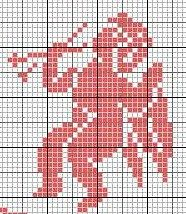 cross stitch chart - could be used to create a nice filet crochet piece.