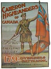 The Queen's Own Cameron Highlanders of Canada Ww1 Posters, Political Posters, Travel Posters, Military Art, Military History, Advertising History, Rare Historical Photos, Highlanders, World War One
