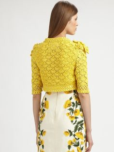 crochet from Oscar De La Renta