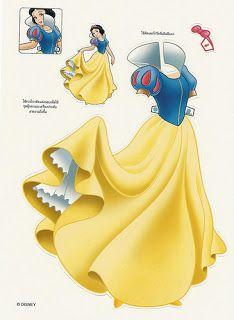 Miss Missy Paper Dolls: Disney Princess Snow White Paper dolls