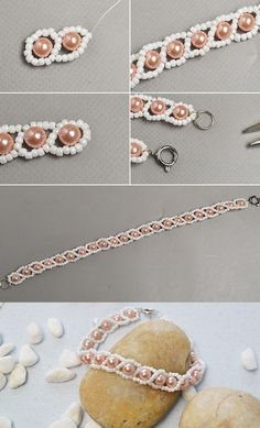 Like the pearl beads bracelet?The tutorial will be shared by LC.Pandahall.com soon.