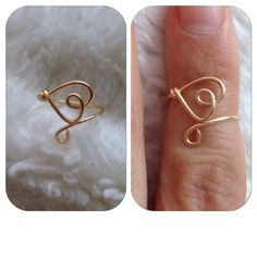 Knuckle/Mid Heart Wire Ring by shopenvyme2013 on Etsy, $2.50