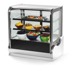 """Vollrath Cubed Glass Countertop Heated Display Cabinet 36' - 40865   Cubed Glass Countertop Heated Display Cabinet, 36"""", 3 shelves, inside lighting strips at top of cabinet and underneath the upper shelf, dual fans circulate air for even temperature"""