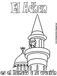 Islamic coloring drawings Easy Coloring Pages, Coloring Books, Decoraciones Ramadan, Islamic Posters, Ramadan Crafts, Islam For Kids, Learning Arabic, Islam Quran, Kids Education