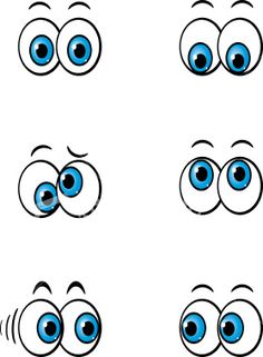 Collection of cartoon eyes clipart Cute Cartoon Eyes, Cartoon Faces, Cartoon Drawings, Art Drawings, Cartoon Cartoon, Tole Painting, Painting & Drawing, Eyes Clipart, Grafiti