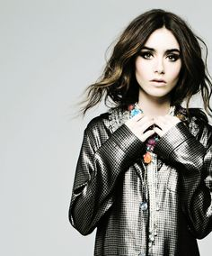 Lily Collins for Elle Canada 2013