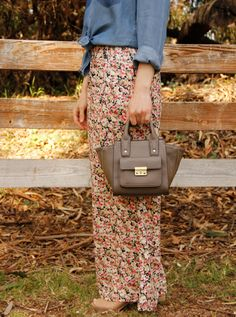 The Key To Chic wears #CharlotteRusse floral pants and #PhillipLimforTarget