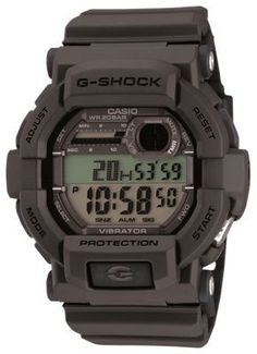 Casio G-Shock Vibration Alarm Watch for Men - Grey/Black