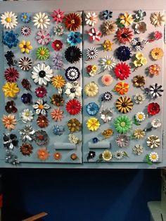 Vintage Enamel Flower Brooches