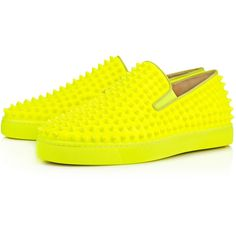 Christian Louboutin Roller-Boat Flat (29.434.025 VND) ❤ liked on Polyvore featuring men's fashion, men's shoes, sneakers, jaune, christian louboutin mens shoes, mens woven leather slip-on shoes, mens leather slip on shoes, mens slipon shoes and mens leather shoes