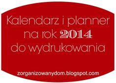 Uniwersalny kalendarz / planner do wydrukowania na rok 2014