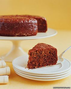 Walnut Honey Cake - Can't wait to try this substituting gluten free all purpose flour blend.