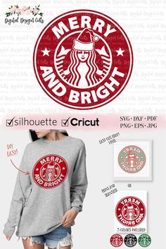 Circuit Projects Discover Merry and Bright SVG Starbucks Logo SVG Starbuck Christmas Iron-on Christmas Starbucks Ring Merry and Bright DIY Shirt Christmas svg Starbucks Logo, Starbucks Funny, Starbucks Crafts, Starbucks Tumbler, Cricut Christmas Ideas, Christmas Vinyl, Christmas Shirts, Starbucks Christmas Cups, Christmas Crafts