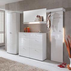 Garderobe Palmares (4-teilig) - Weiß Hochglanz