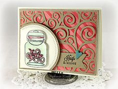 Beautiful card background with a swirl die