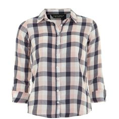 612ccaf798 Dorothy Perkins Check Shirt (203.455 IDR) ❤ liked on Polyvore featuring  tops