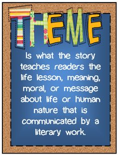 Teaching themes can be hard for students to understand. Watch how your students begin to understand themes with this interactive bulletin board. Reading Lessons, Reading Strategies, Reading Skills, Teaching Reading, Teaching Literature, Learning, 6th Grade Reading, 6th Grade Ela, Reading Themes
