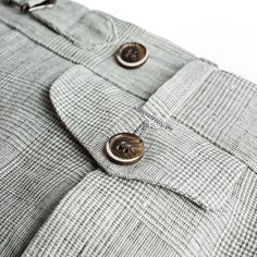 This lightweight pair of trousers is cut from pure, fresh linen by Ormezzano, and features side adjusters, a coin pocket, and a vibrant glen check. Men Trousers, Checked Trousers, Dapper Gentleman, Bespoke Tailoring, Classic Man, British Style, Timeless Fashion, Nice Dresses, Menswear