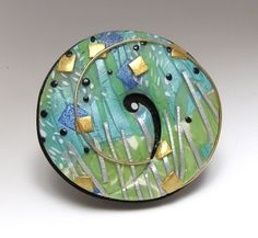 Seacliff Brooch by TORY HUGHES | Polymer Clay Planet