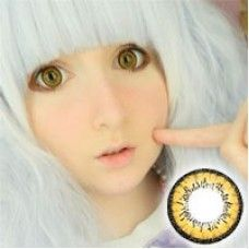 Get incredible golden-yellow eyes perfect for cosplays with I fairy dolly+ brown circle lenses. Comfortable with a dolly enlargement these contacts are fun to have!