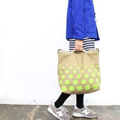 neon dotted tote bag by Saro
