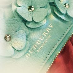 Flowers details in soft leather from the Burberry Prorsum S/S14 collection - shot with #iPhone5s #LFW